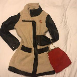 Barneys NEWORK coat faux fur/shearling